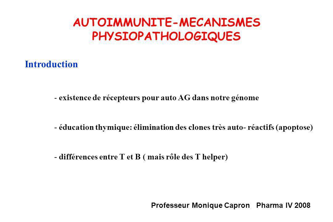 AUTOIMMUNITE-MECANISMES PHYSIOPATHOLOGIQUES