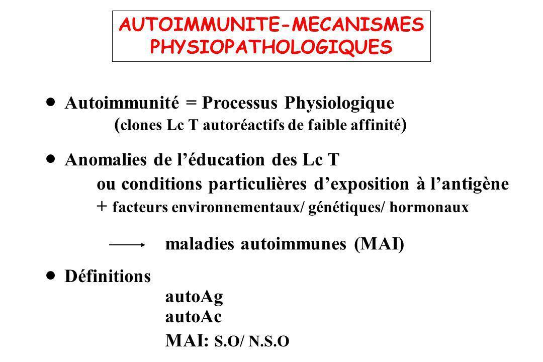 AUTOIMMUNITE-MECANISMES
