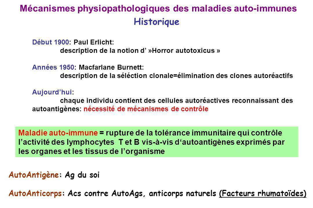 Mécanismes physiopathologiques des maladies auto-immunes Historique