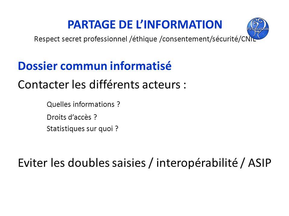 PARTAGE DE L'INFORMATION