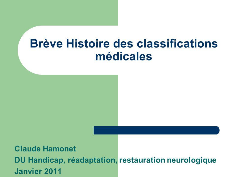Brève Histoire des classifications médicales