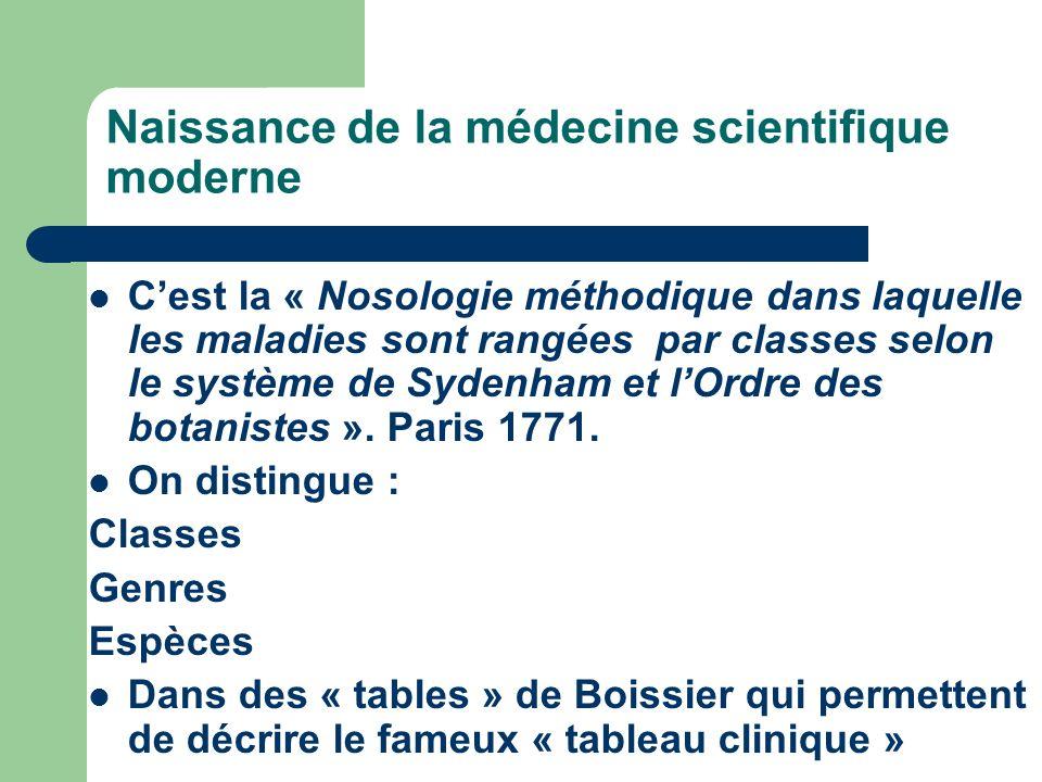 Naissance de la médecine scientifique moderne