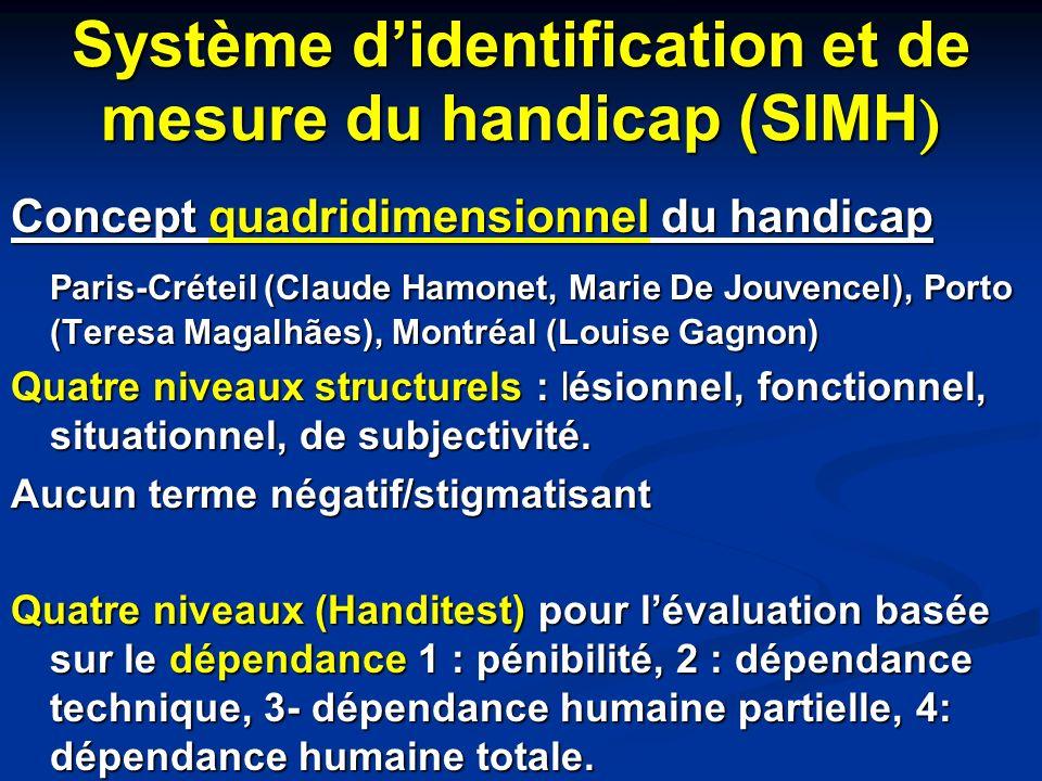 Système d'identification et de mesure du handicap (SIMH)