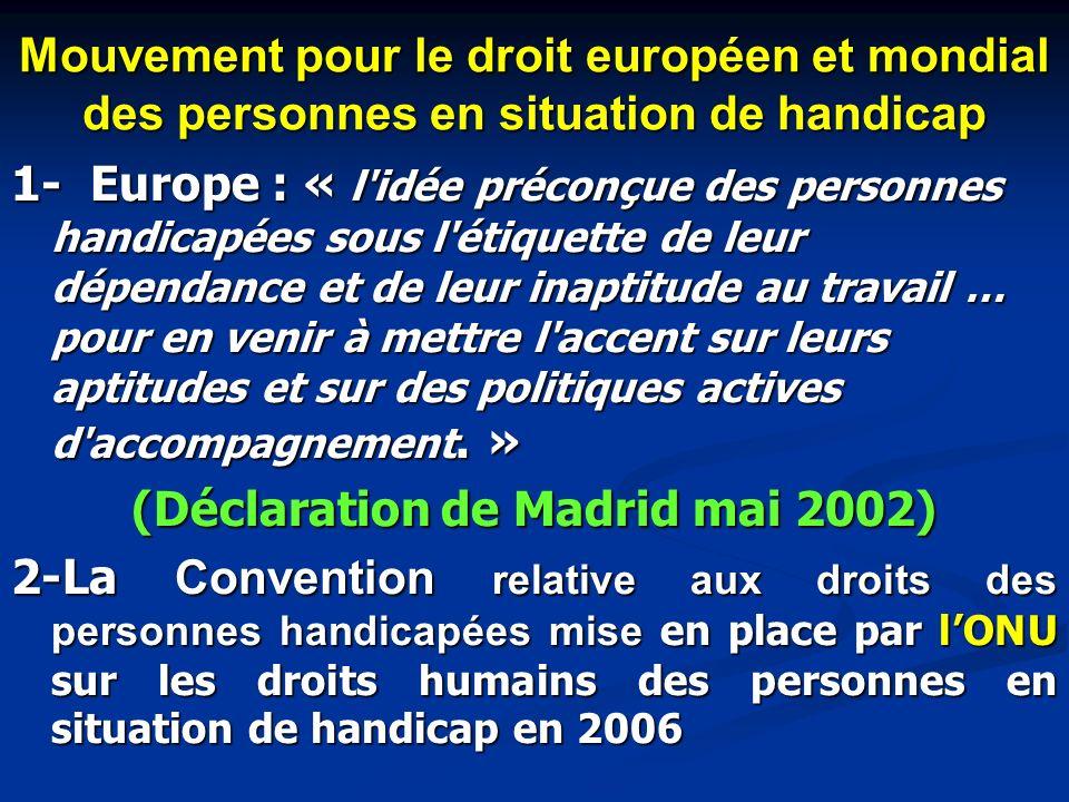 Mouvement pour le droit européen et mondial des personnes en situation de handicap