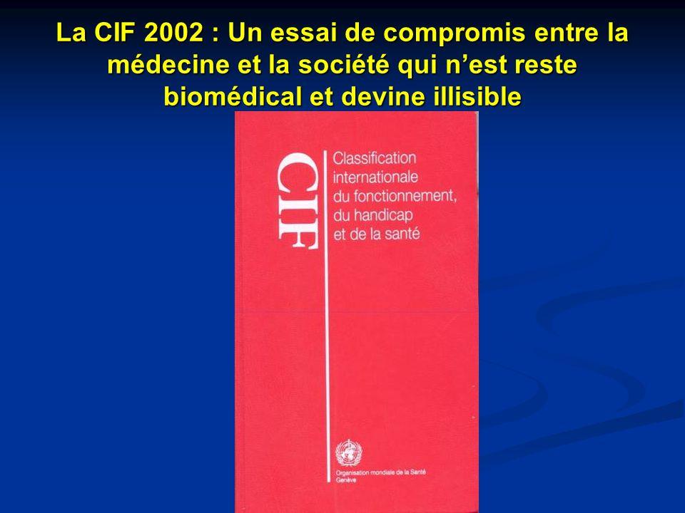 La CIF 2002 : Un essai de compromis entre la médecine et la société qui n'est reste biomédical et devine illisible