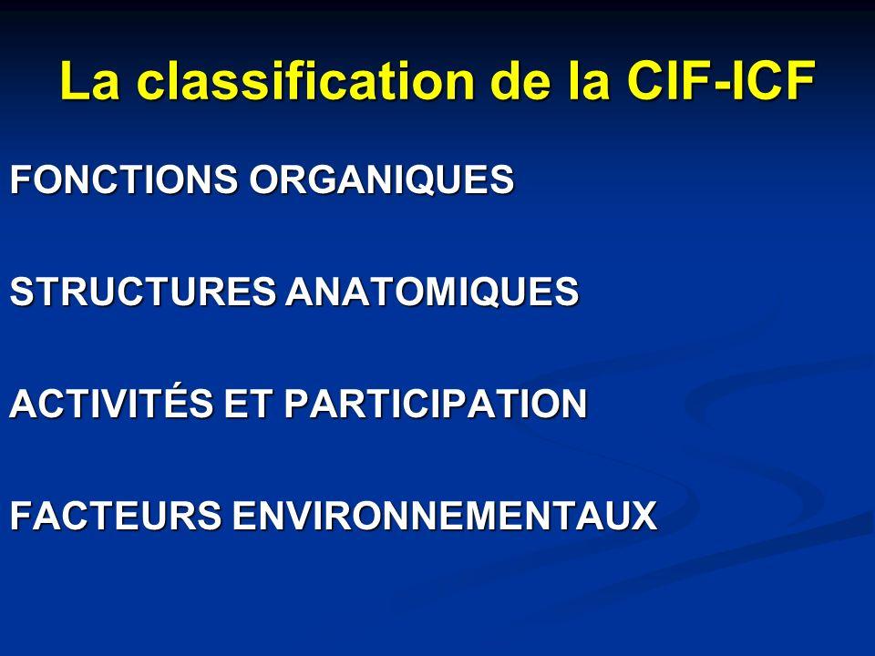 La classification de la CIF-ICF