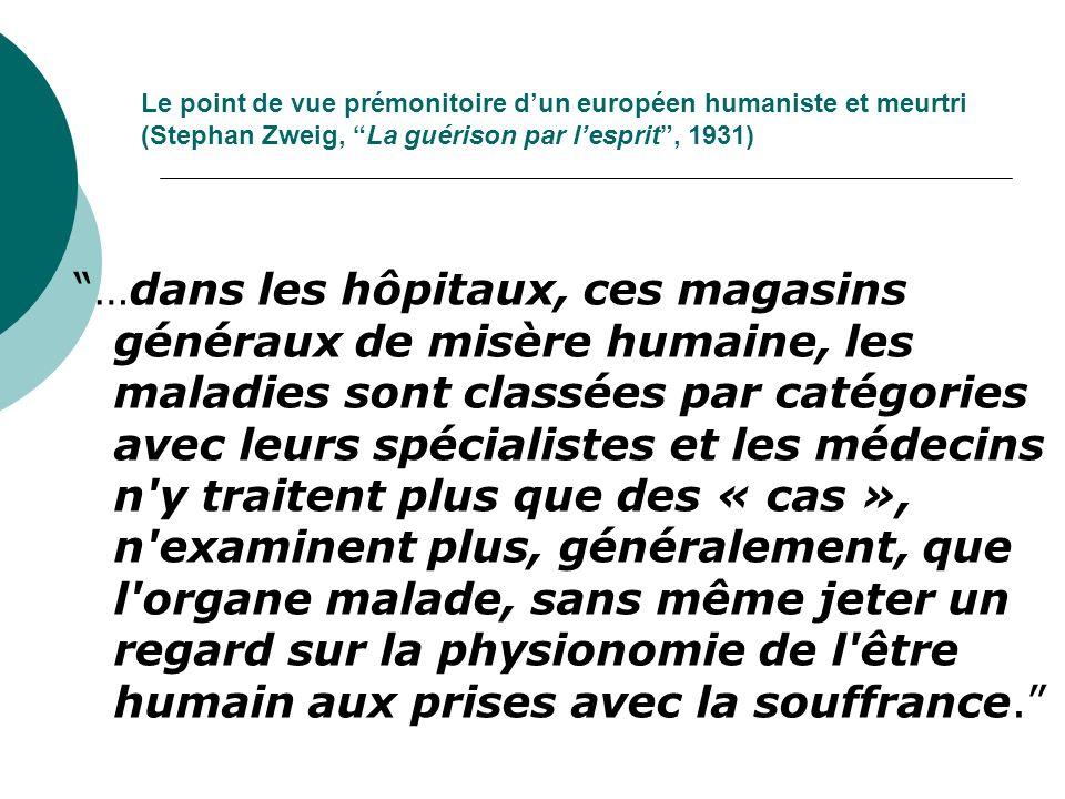 Le point de vue prémonitoire d'un européen humaniste et meurtri (Stephan Zweig, La guérison par l'esprit , 1931)