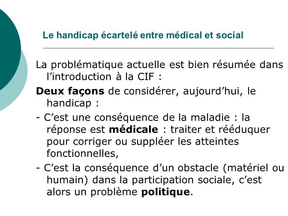 Le handicap écartelé entre médical et social