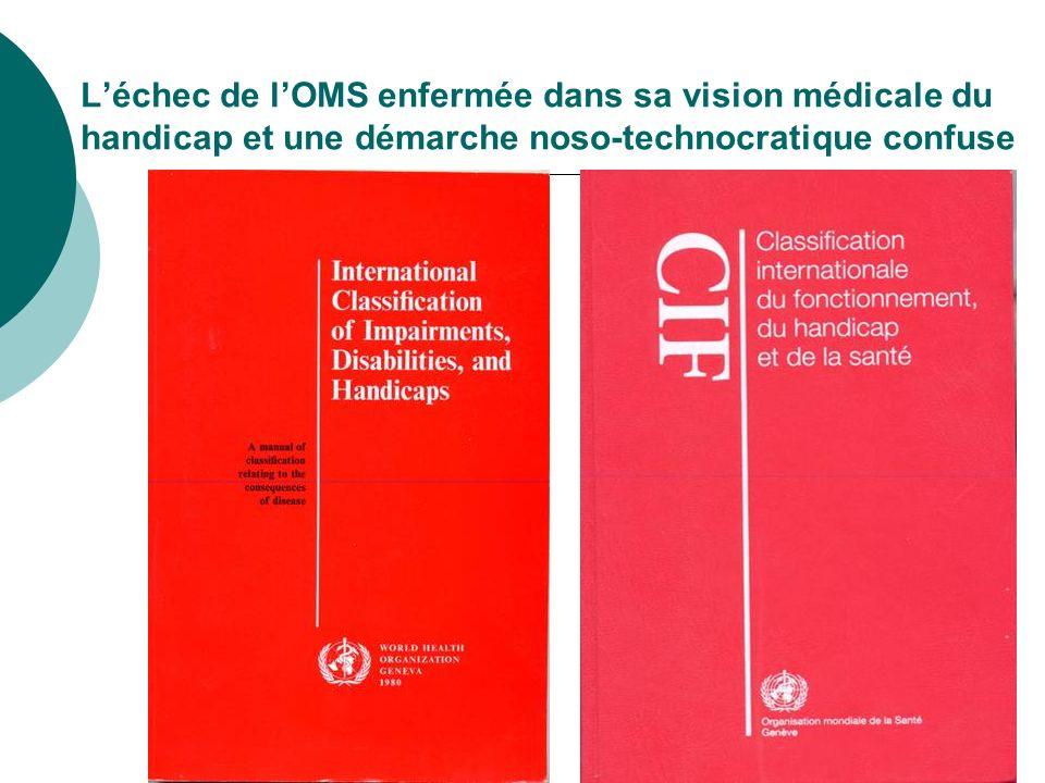 L'échec de l'OMS enfermée dans sa vision médicale du handicap et une démarche noso-technocratique confuse