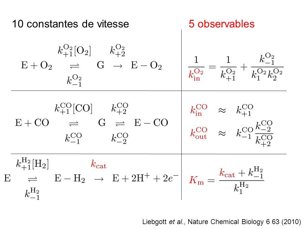 10 constantes de vitesse 5 observables