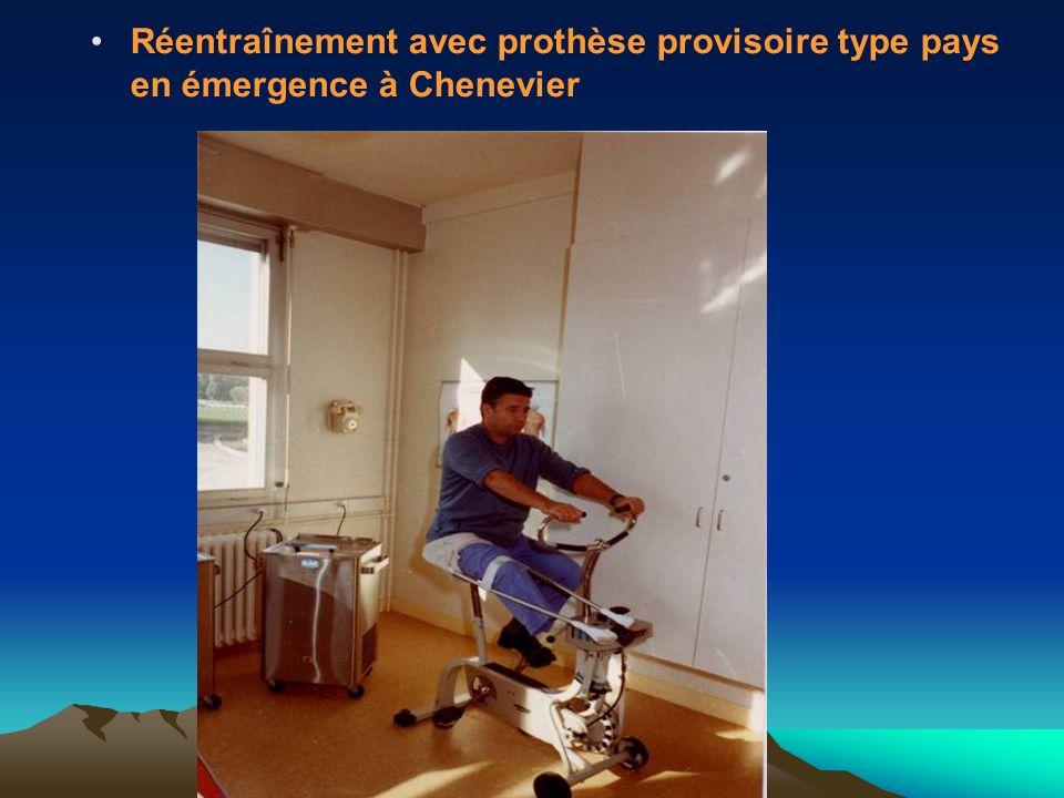 Réentraînement avec prothèse provisoire type pays en émergence à Chenevier