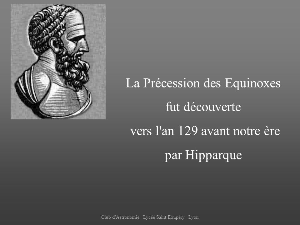 La Précession des Equinoxes fut découverte