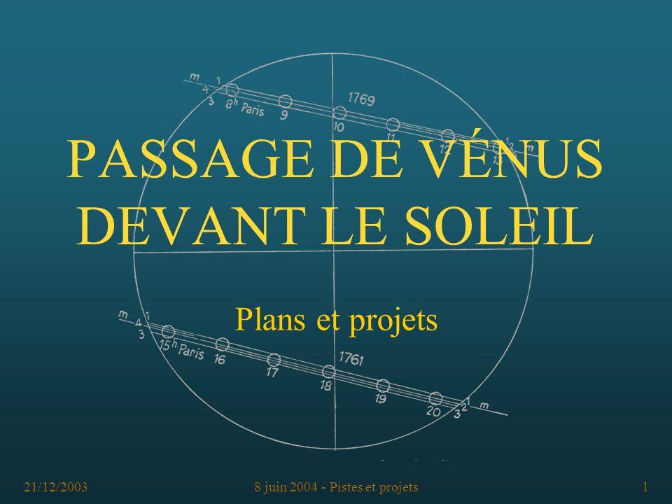 PASSAGE DE VÉNUS DEVANT LE SOLEIL