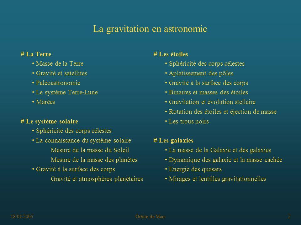 La gravitation en astronomie