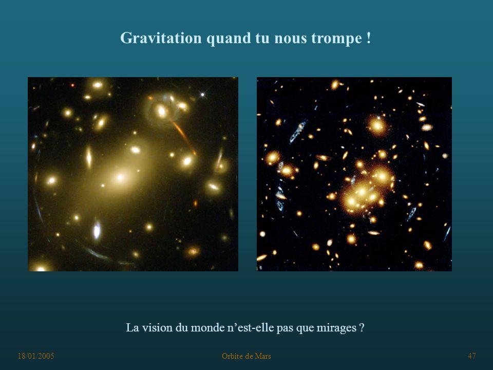 Gravitation quand tu nous trompe !
