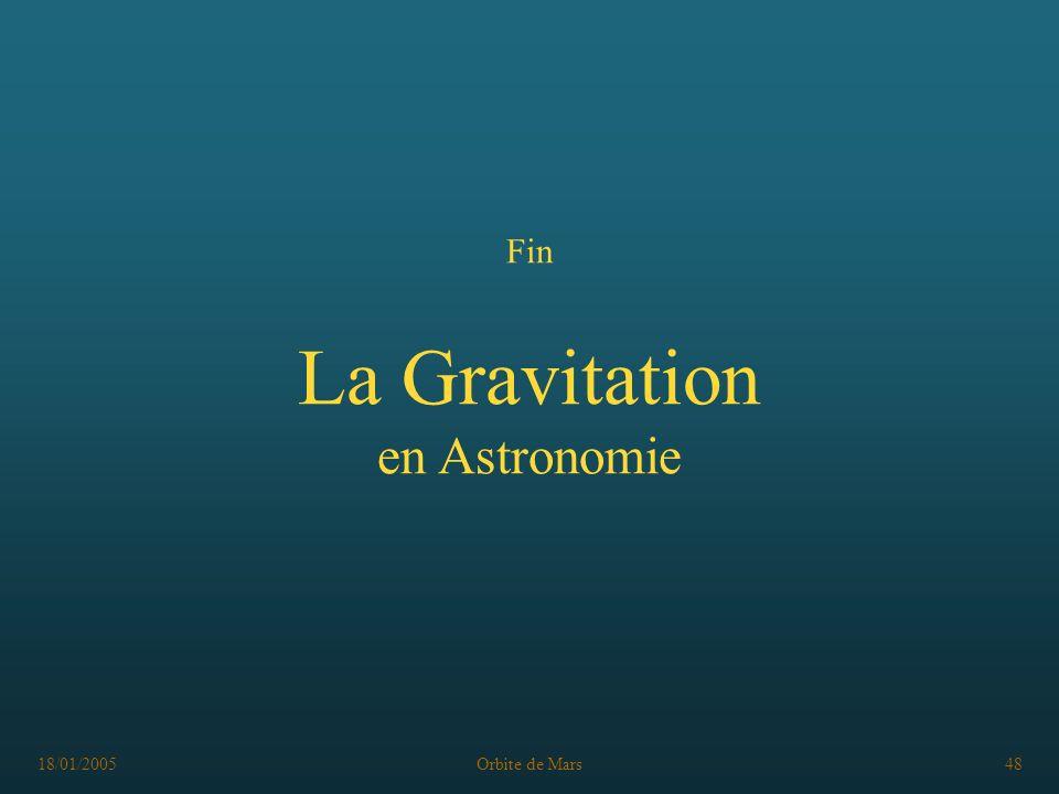 Fin La Gravitation en Astronomie