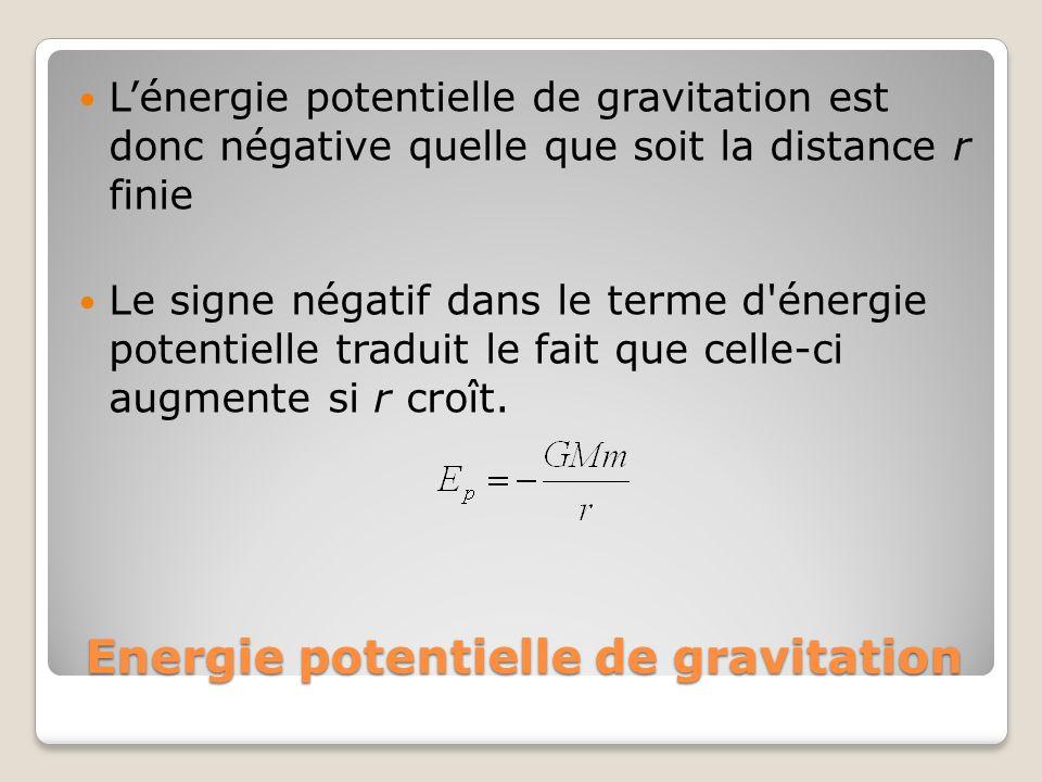 Energie potentielle de gravitation