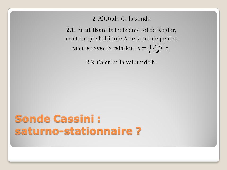 Sonde Cassini : saturno-stationnaire