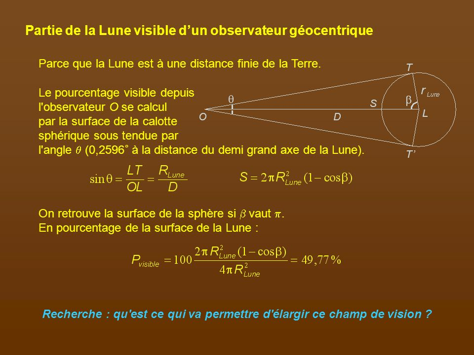 Partie de la Lune visible d'un observateur géocentrique