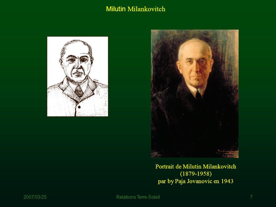 Milutin Milankovitch Portrait de Milutin Milankovitch (1879-1958)