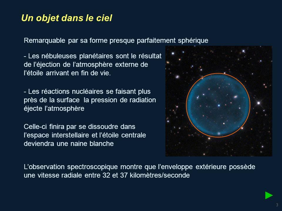 Un objet dans le ciel Remarquable par sa forme presque parfaitement sphérique.