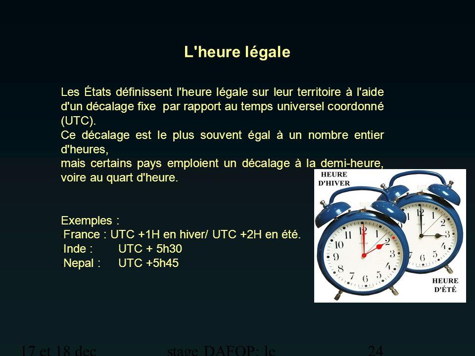 L heure légale 17 et 18 dec 2012 stage DAFOP: le temps