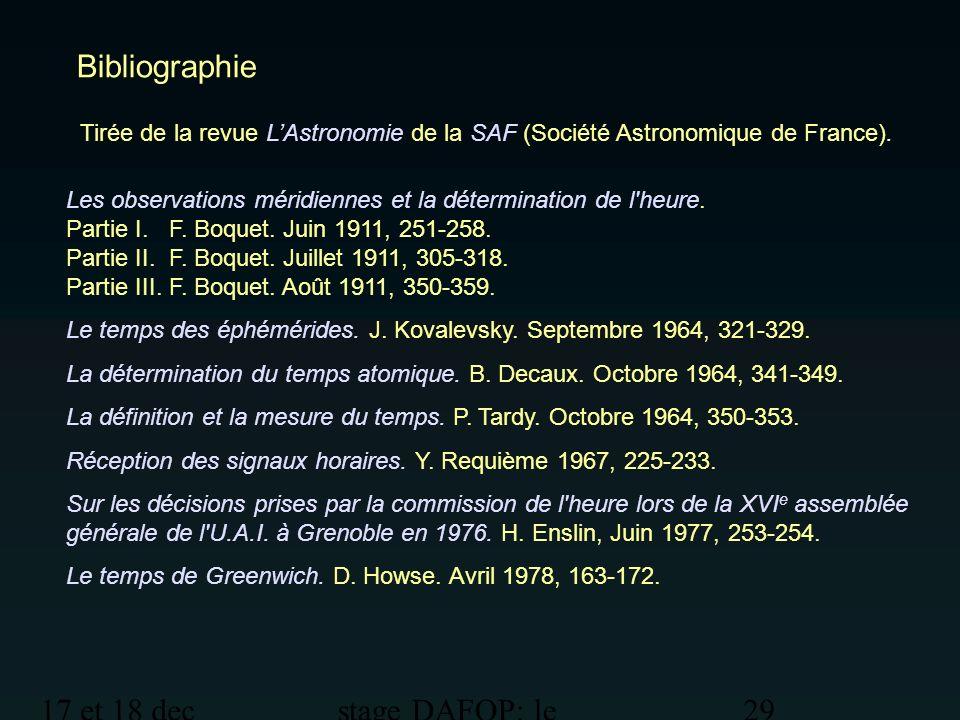 Bibliographie 17 et 18 dec 2012 stage DAFOP: le temps