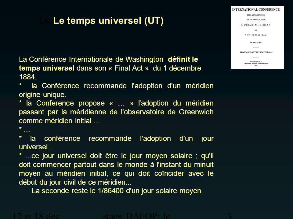 Le Le temps universel (UT)