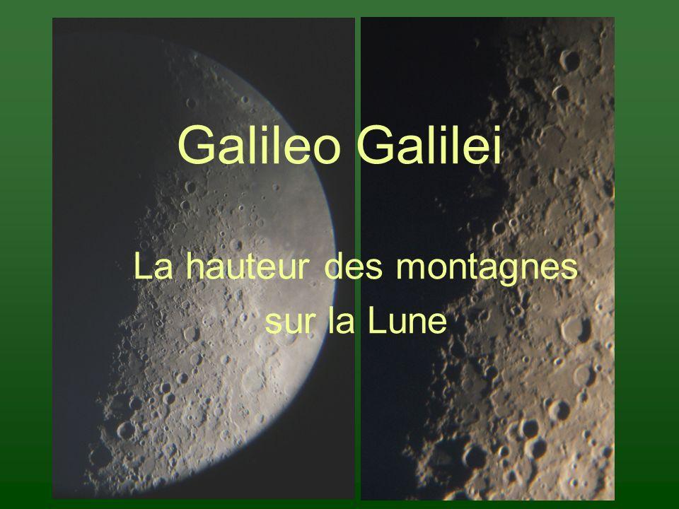 La hauteur des montagnes sur la Lune