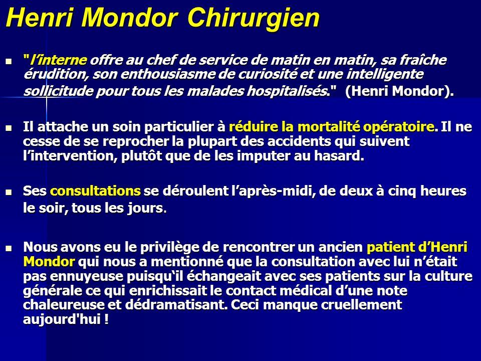 Henri Mondor Chirurgien