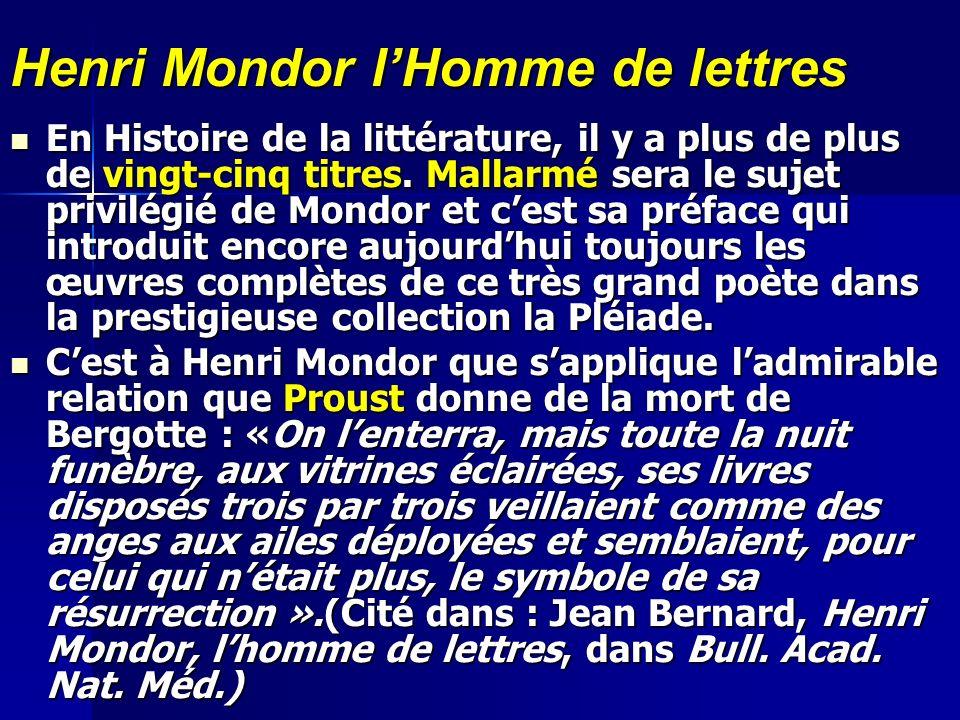 Henri Mondor l'Homme de lettres
