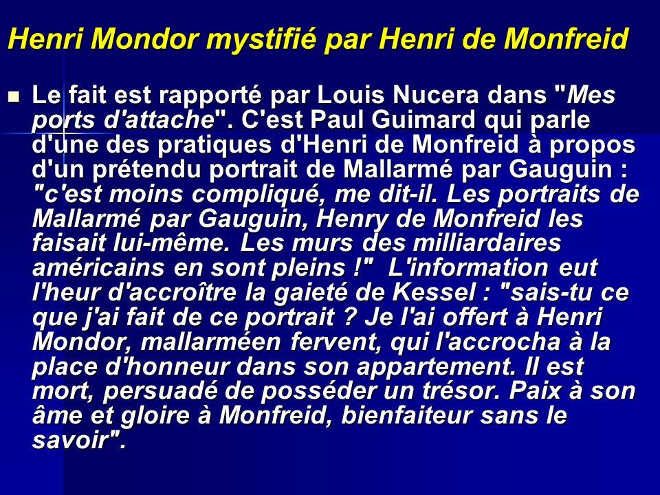 Henri Mondor mystifié par Henri de Monfreid