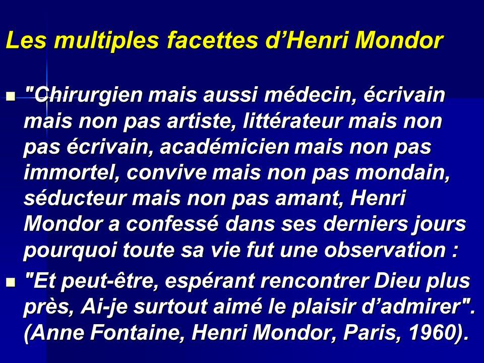 Les multiples facettes d'Henri Mondor