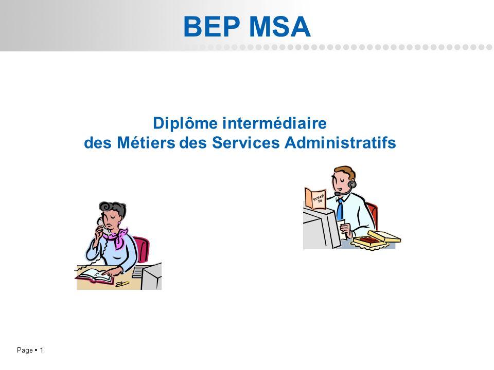 Diplôme intermédiaire des Métiers des Services Administratifs