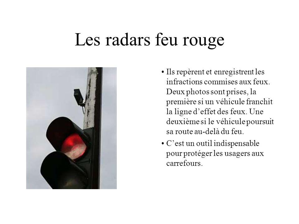 Les radars feu rouge