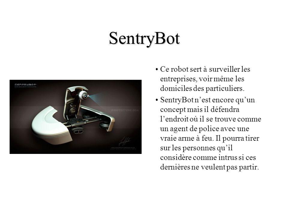 SentryBot Ce robot sert à surveiller les entreprises, voir même les domiciles des particuliers.