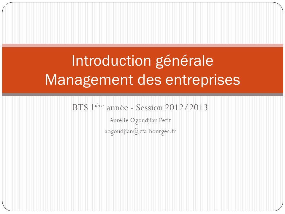 Introduction générale Management des entreprises