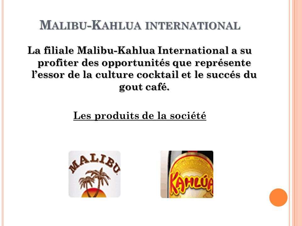 Malibu-Kahlua international