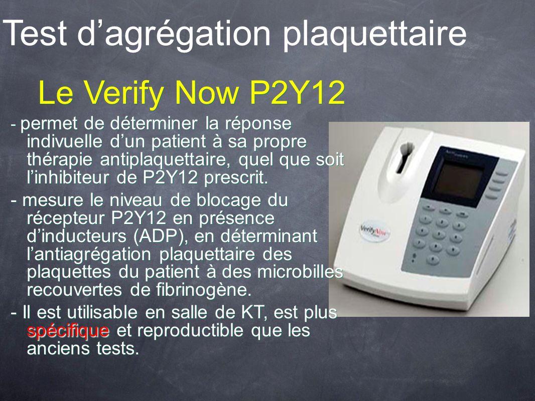 Test d'agrégation plaquettaire