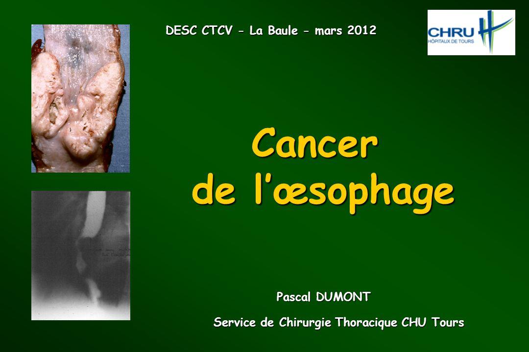 Service de Chirurgie Thoracique CHU Tours