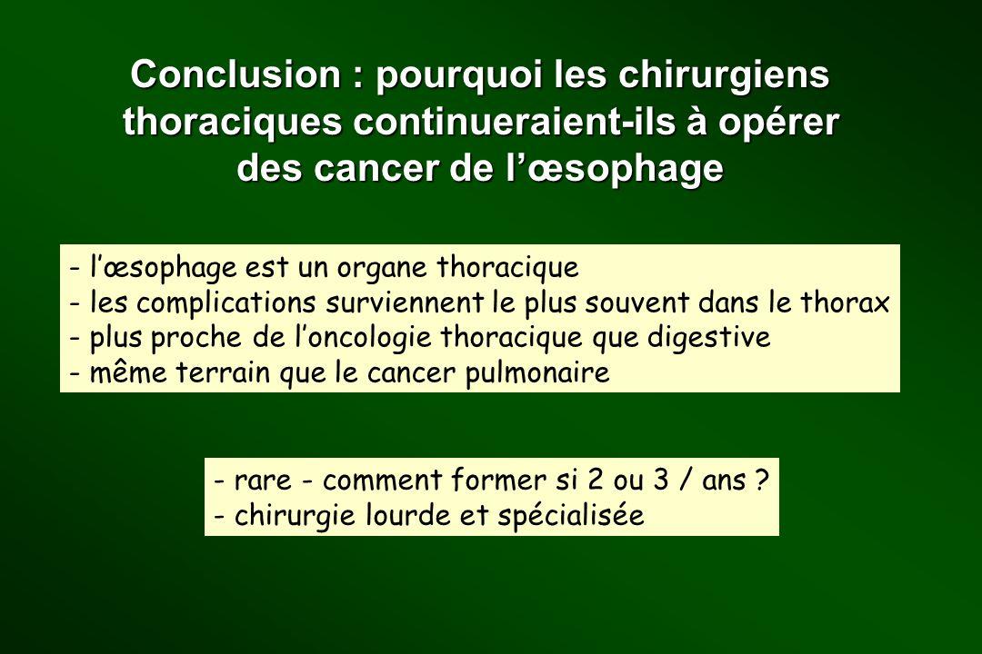 Conclusion : pourquoi les chirurgiens