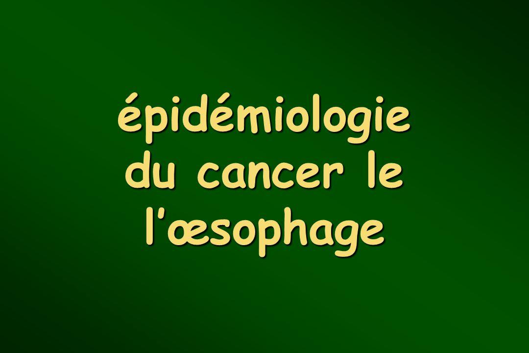 épidémiologie du cancer le l'œsophage