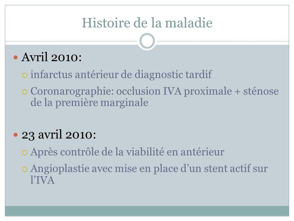 Histoire de la maladie Avril 2010: 23 avril 2010: