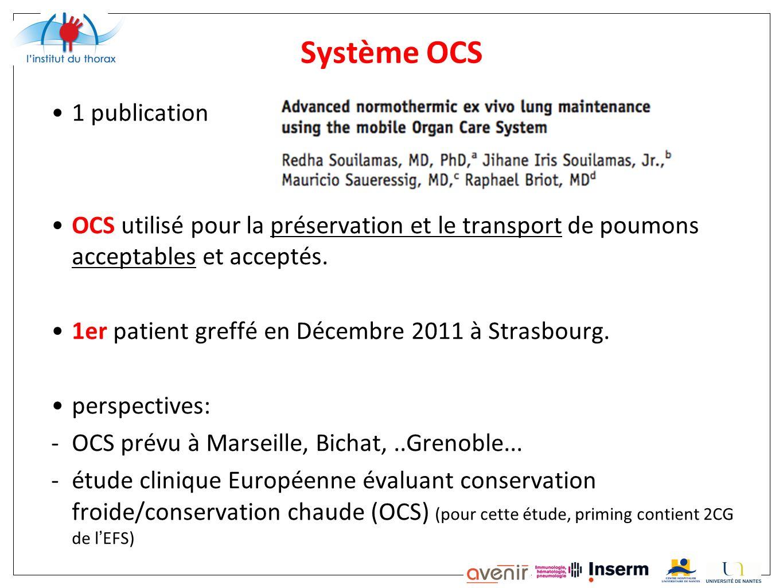 Système OCS 1 publication