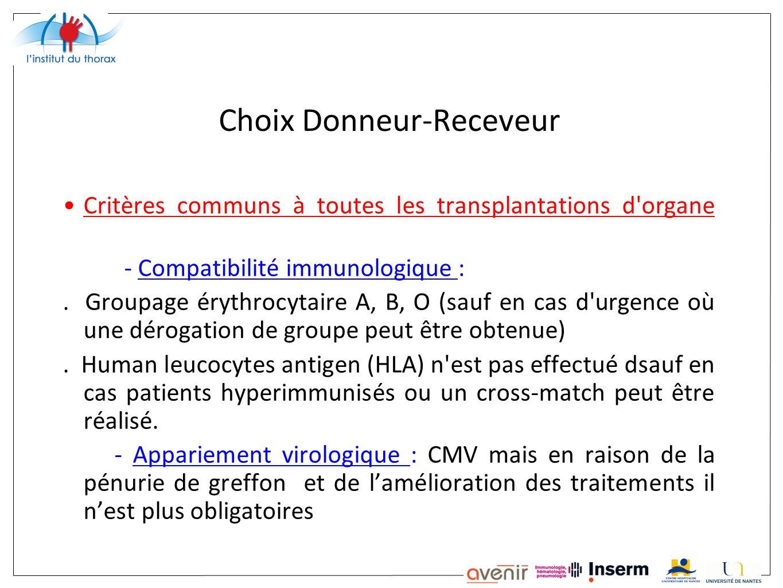 Choix Donneur-Receveur