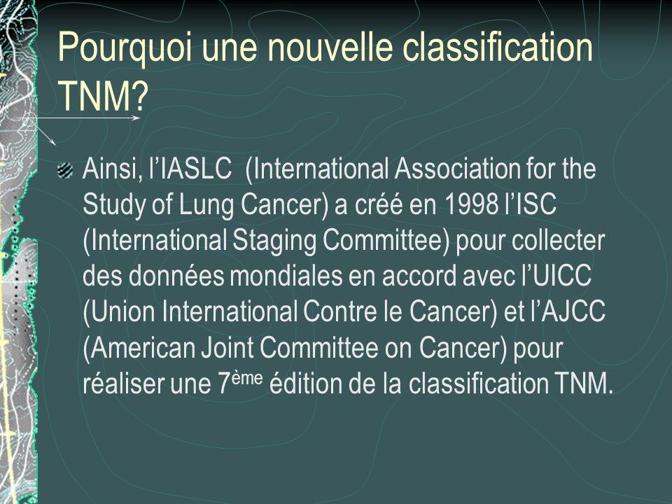 Pourquoi une nouvelle classification TNM