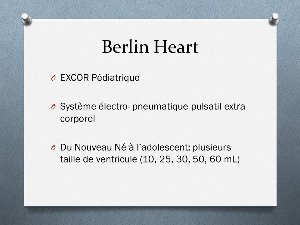 Berlin Heart EXCOR Pédiatrique