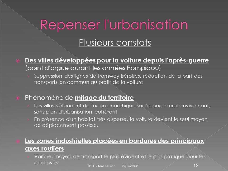 Repenser l urbanisation