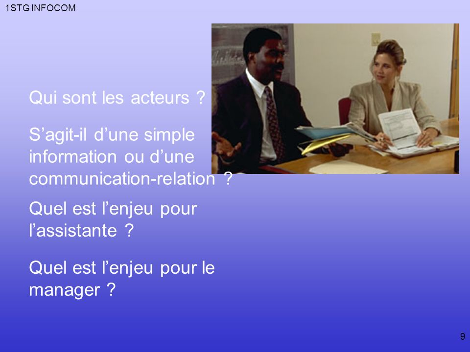 S'agit-il d'une simple information ou d'une communication-relation