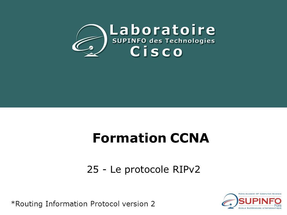 Formation CCNA 25 - Le protocole RIPv2